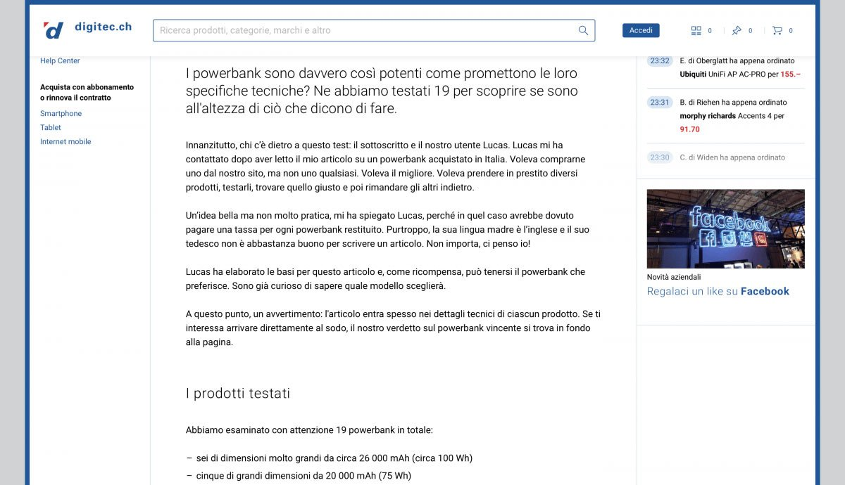 Swiss German to Swiss Italian | Digitec Galaxus | Powerbanks